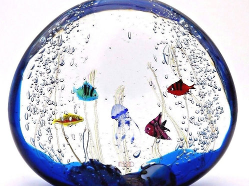 Large Elio Raffaeli Murano Jellyfish Aquarium Art Glass Oggetti Sculpture