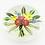Thumbnail: Chris Buzzini Botanical Flower Bouquet Art Glass Paperweight