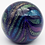 Thumbnail: Glass Eye Studio Metallic Glitter Swirl Art Glass Paperweight