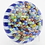 Thumbnail: Parabelle Blue & White Stave Basket illefiori Canes Art Glass Paperweigh