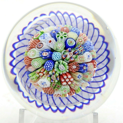 Antique Baccarat Millefiori Mushroom Art Glass Paperweight