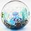Thumbnail: Elio Raffaeli Murano Fish Jellyfish Aquarium Art Glass Paperweight Orb