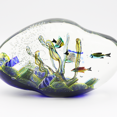 Heavy Decorative Murano Fish Aquarium Art Glass Paperweight Tagliapietra