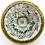 Thumbnail: Magnum Jim Brown Honeycomb Art Glass Paperweight Burl Wood Base