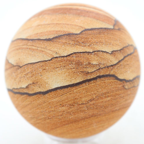 Natural Sandstone Polished Sphere Mineral Specimen Marble