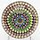 Thumbnail: Vintage Baccarat Showy Concentric Millefiori Cane Art Glass Paperweight