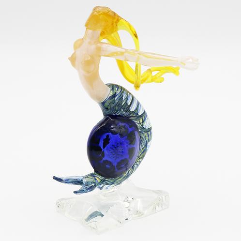 Milon Townsend Coral Reef Implosion Mermaid Art Glass Sculpture