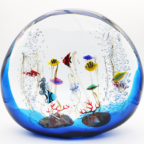 Giant Elio Raffaeli Murano Seahorse Fish Aquarium Art Glass Sculpture
