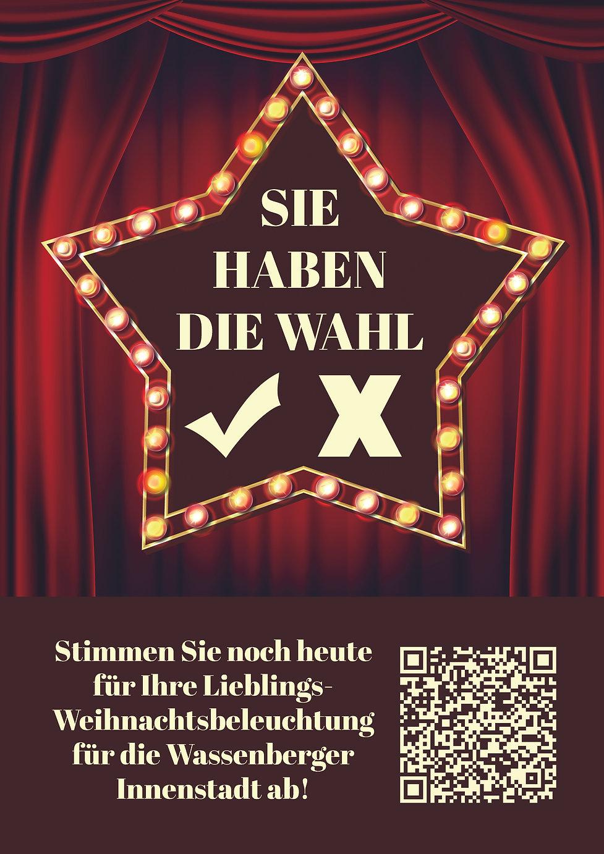 Plakat Abstimmung Weihnachtsbeleuchtung.