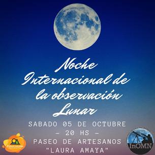NOCHE INTERNACIONAL DE OBSERVACIÓN DE LA LUNA 2019 EN POTRERO DE LOS FUNES