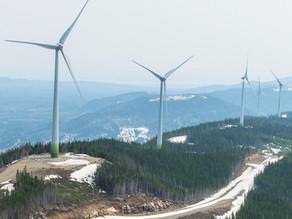 Mise en service du projet éolien communautaire Côte-de-Beaupré