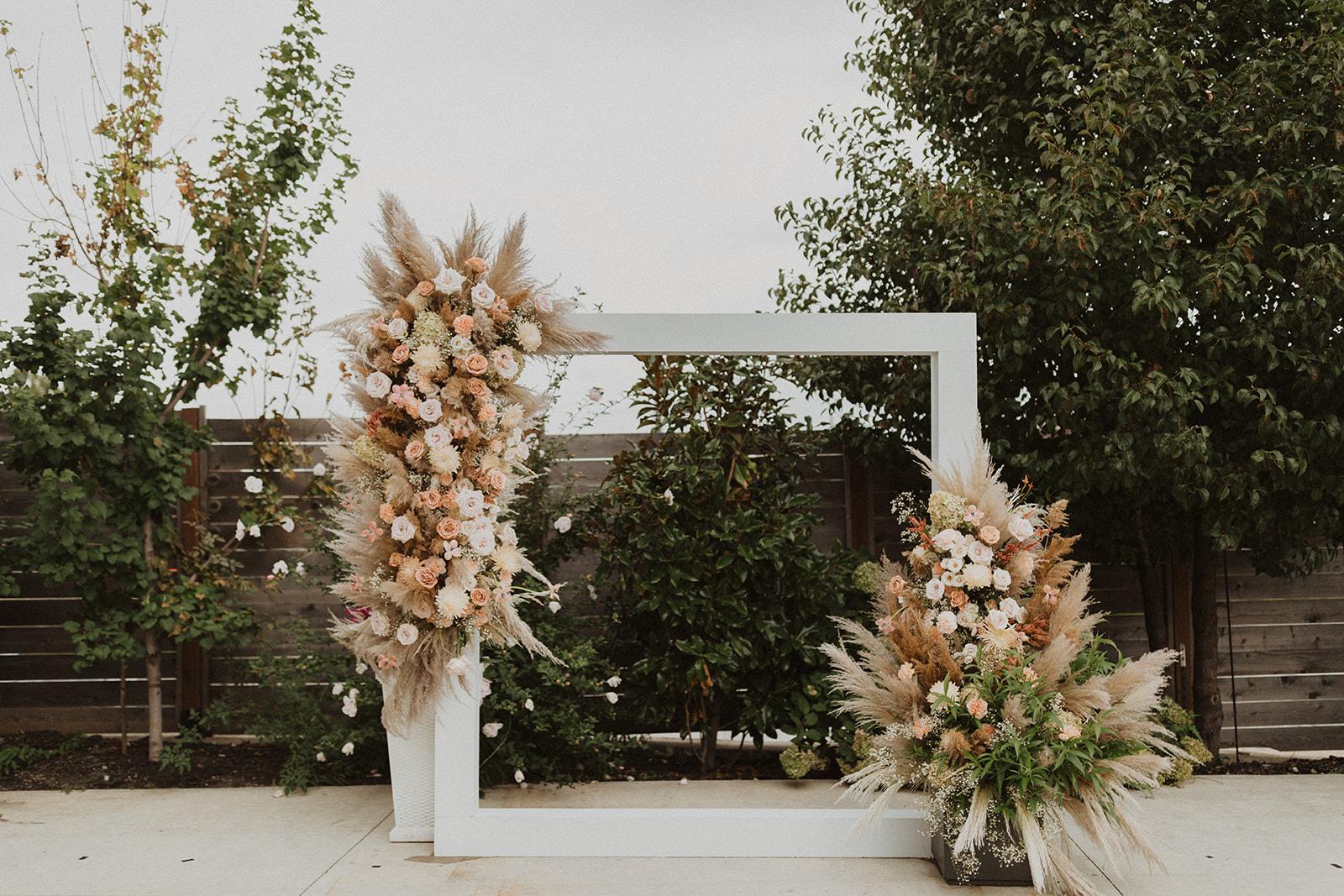 Modern Boho Wedding Arbor