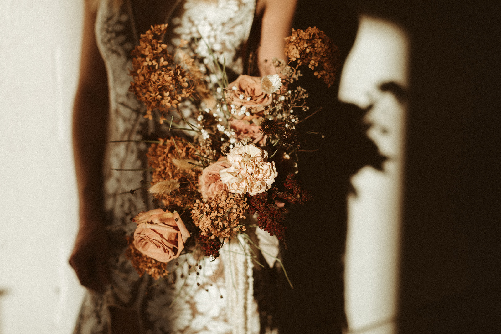Moody Fresh and Dried Bridal Bouquet