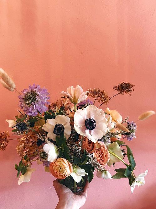 Fresh Floral Arrangement in Glass
