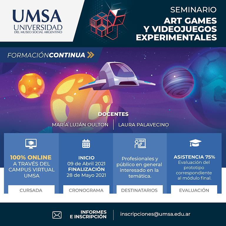 Seminario de Artgames y Videojuegos experimentales