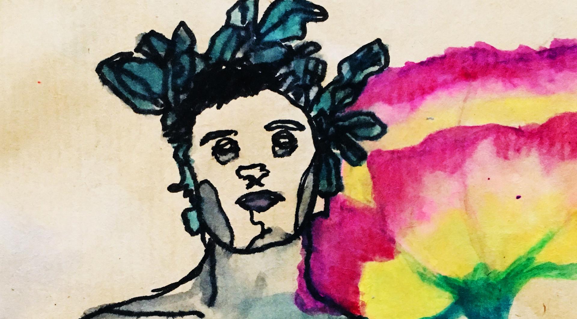 Homme fleur