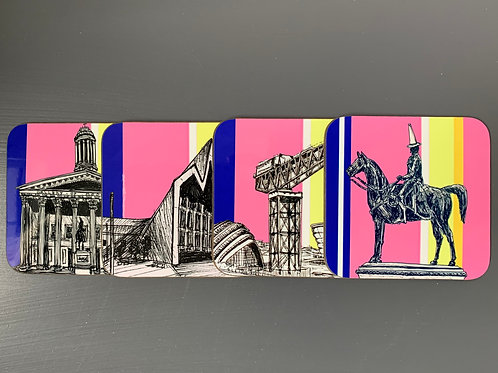 Glasgow City 4 Pack Coaster Gift Set