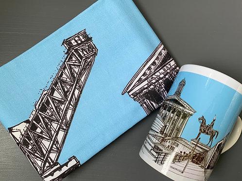 Glasgow City Mug and Tea Towel Gift Bundle