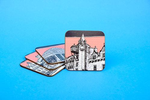 Edinburgh 4 Pack Coaster Gift Set - Salmon