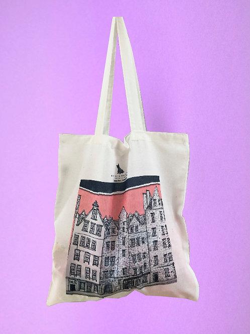 Edinburgh Grassmarket Shopper Tote Bag - Pink
