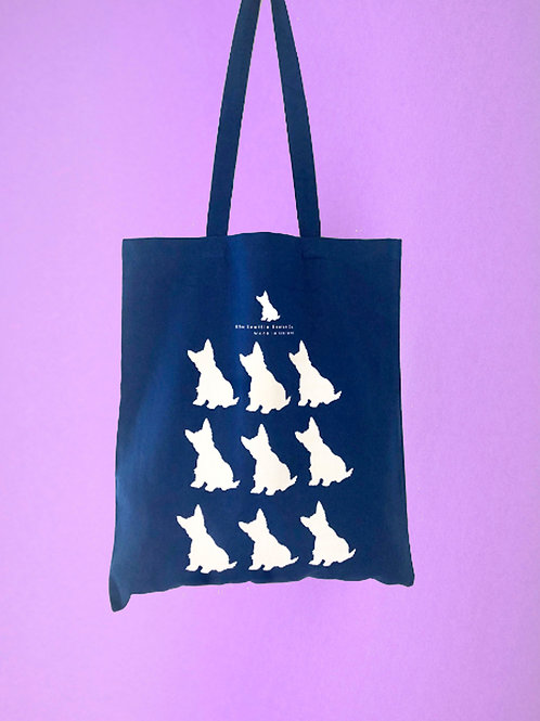 Scottie Dog Shopper Tote Bag - Royal Blue
