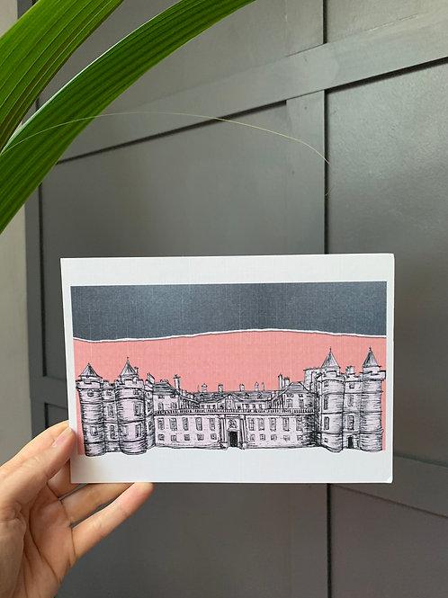 Palace of Holyrood House, Edinburgh, A5 Linen Print