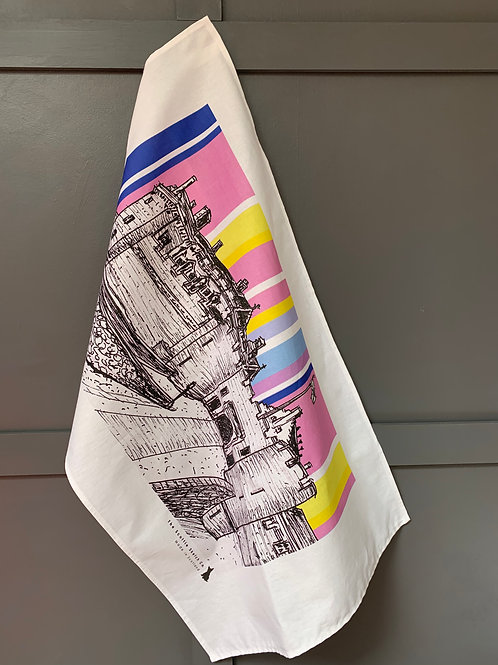 Stirling Castle Tea Towel - Sunshine