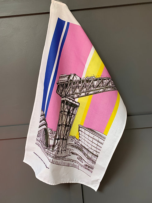Finnieston Crane Glasgow Tea Towel