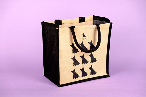 Scottie Dog Jute Bag