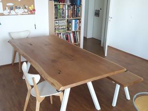 Esstisch LASSE (210 x 100 cm, Eiche, Ölung Natur) mit passender Sitzbank
