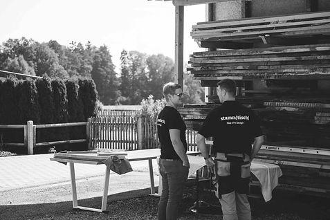 Holztisch Manufaktur München Holz selbst auswählen