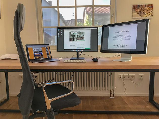 Esstisch Mikkel, zwei Stück als Schreibtische (250 x 90 cm, Eiche ...