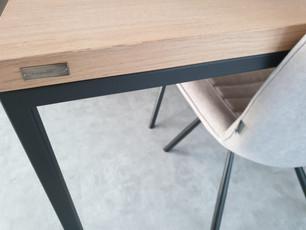 Esstisch NERO (200 x 100 cm, 2 Ansteckplatten, Eiche, Ölung nach Kundenmuster)