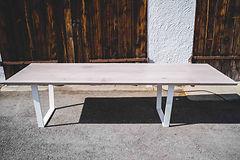 Holztisch mit Ansteckplatte München