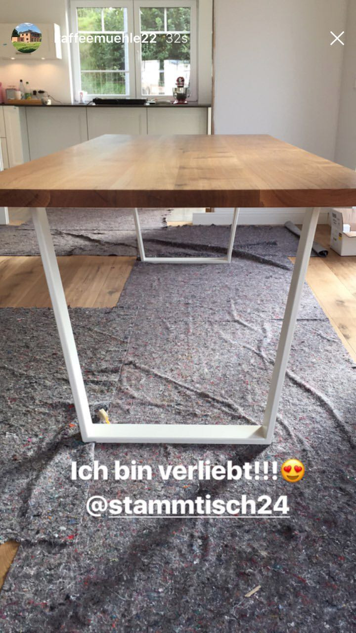 Massivholztisch von stamm[tisch] - Modell GUSTAV