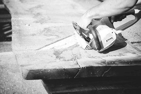 Holztisch Fertigung Manufaktur