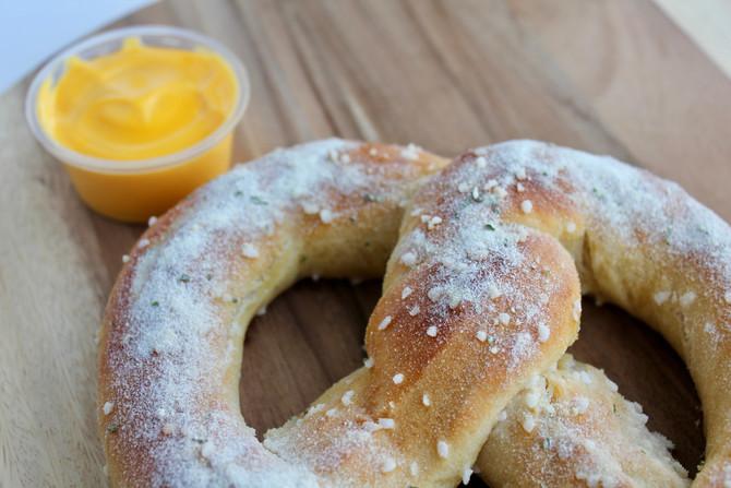 Ben's Pretzels Flavor of the Month is the Sour Cream and Onion Pretzel
