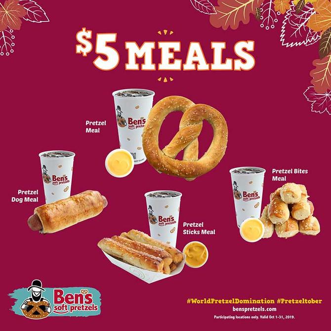 $5 Pretzel Meals and $2 Pretzel Tuesdays for National Pretzel Month