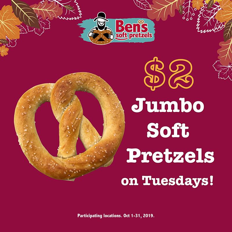 $2 Pretzel Tuesdays