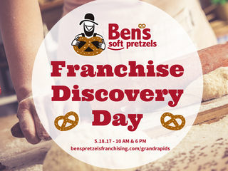 Dream of being your own boss? Open a Ben's Soft Pretzels Franchise in Grand Rapids and Turn Doug