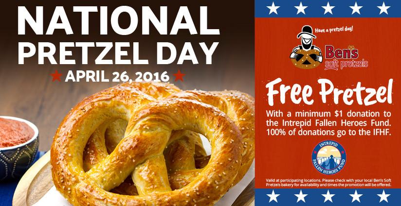 Ben's Soft Pretzels National Pretzel Day