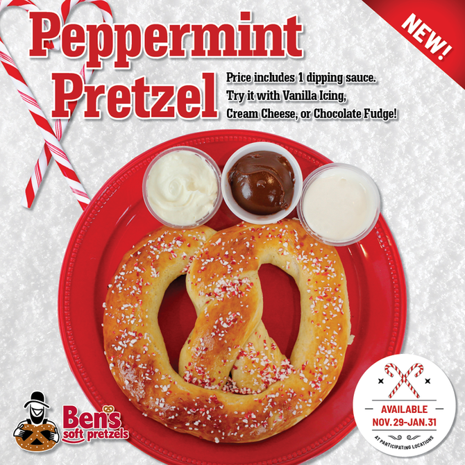 Ben's Pretzels New Peppermint Pretzel
