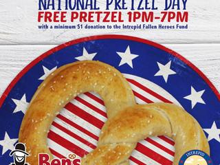 Ben's Soft Pretzels Celebrates National Pretzel Day through Free Pretzel Fundraiser for Intrepid Fal