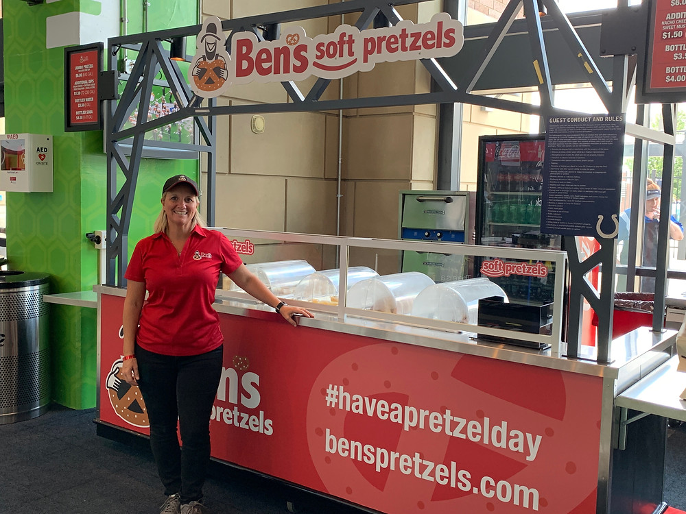 Ben's Pretzels at Lucas Oil Stadium