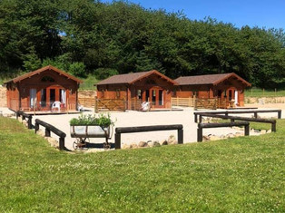 photo all three together, Cabins at Cobblehouse Aberdeenshire