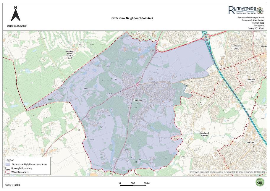 Map of the Designated Ottershaw Neighbourhood Area