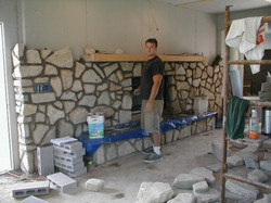 Natural Stone Fireplace