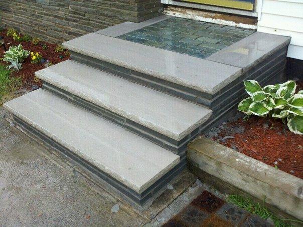 Bluestone & Limestone steps