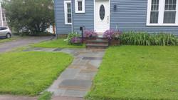 Bluestone walkway and steps
