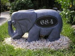 Stone Elephant Address Rock